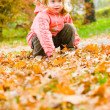 Cute little girl in the park — Stock Photo #10166286