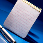 Bloc de notas con bolígrafo — Foto de Stock