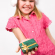 Girl holding a gift box — Stock Photo #10166448