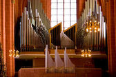 Old organ in christian church — Stockfoto