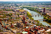 Frankfurt am Mein bird's eye view — Stock Photo