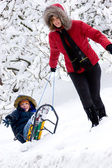 Winter. Parenthood — Stock Photo