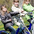 Girls on bicycles — Stockfoto