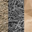 Stone, paper and steel nails — Stok Fotoğraf #10175253