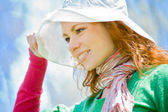 White hat fit all — Stockfoto