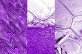 Bubbles and liquid set — Stock Photo
