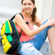 Stock Photo: Pretty young female student