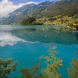 Majestic mountain lake in Switzerland — Foto de stock #10185785