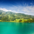 Stock Photo: Majestic mountain lake in Switzerland