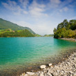 Beautiful mountain lake in Switzerland — Stock Photo