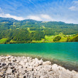 Majestic mountain lake in Switzerland — Stockfoto