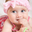 Cute little baby girl — Stock fotografie