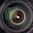 Camera lens with reflection — Stock Photo