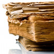 Ancient weathered paper book — Stockfoto