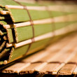 Coiled bamboo mat — Stock Photo