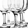 Empty wineglasses with reflection — Stock Photo