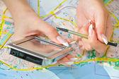 Navigering — Stockfoto