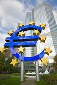 Famous euro sign in Frankfurt — Stock Photo
