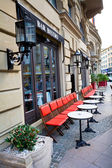 Traditional european street architecture — Stock Photo