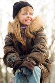 Pretty smiling little girl — Stock Photo