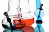 многоцветный водопроводные трубы — Стоковое фото