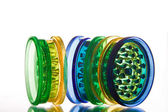 Multicoloured translucent grinders — Stock Photo
