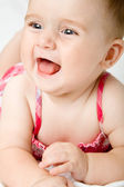 Cute little baby girl — Stock Photo