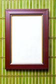 Hnědý dřevěný rám — Stock fotografie