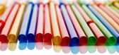 Multi-coloured cocktail straws — Stock Photo