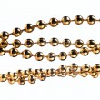 Golden color beads — Stock Photo