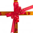 Macro of ribbon with bow — Stock Photo