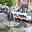 Miniature toy model of modern train — Stock Photo #10370553