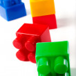 Colorful isolated building blocks toy — Stock Photo