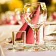 Arranged celebration table — Stock Photo