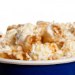 Tall bowl with popcorn closeup — Stock fotografie