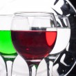 Stock Photo: Glasses with multicolored liquids