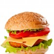 Hamburger isolated on white — Stock Photo #10370789
