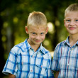 Two smiling twin brothers portrait — Stock Photo #10370792