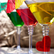 Stock Photo: Martini glasses