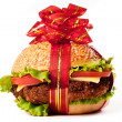 Hamburger gift — Stock Photo