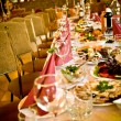 Arranged celebration table - Stock Photo