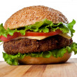 Hamburger isolated on white — Stock Photo #10370986