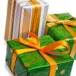 Wrapped gift boxes — Stock Photo #10371036