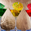 Martini glasses — Stock Photo
