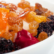 Sweet dish with rice and candied fruits — Foto Stock