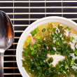 Soup with greenery — Stockfoto