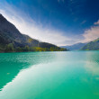 Majestic mountain lake in Switzerland — Foto de stock #10371479