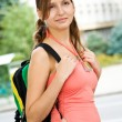 Pretty young female student — Stock Photo