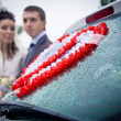 Стоковое фото: Newlywed couple wedding portrait
