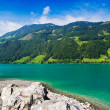 Majestic mountain lake in Switzerland — Foto Stock